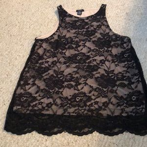 Rue 21 Lace with cream underlay shell